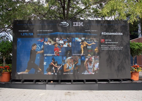 Touch LED Wall at US Open site